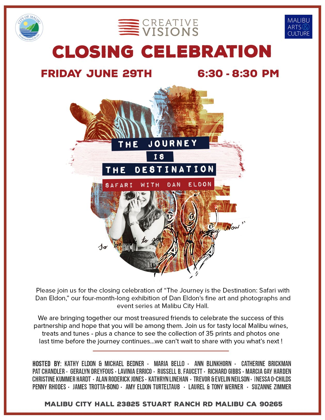 Dan Eldon Closing Reception June 29, 2018